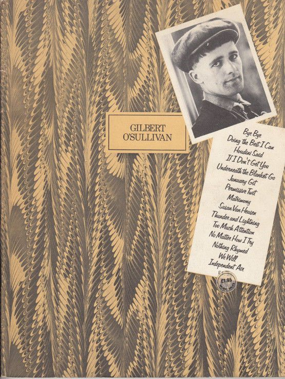 Gilbert O'Sullivan Greatest Hits Antique 1970s Piano History Sheet Music Book