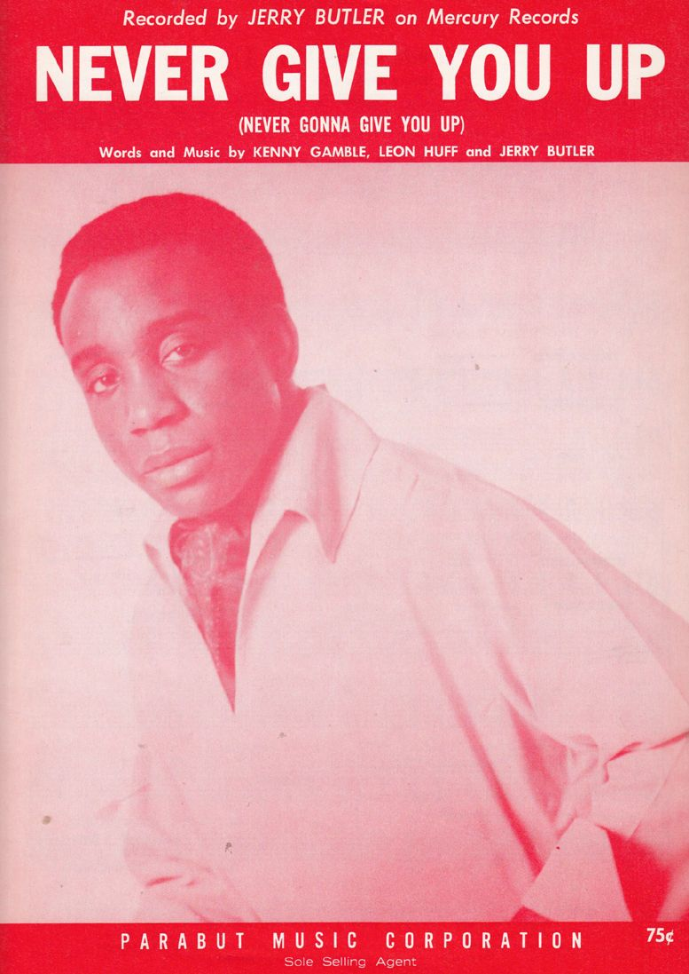 Playles Jerry Butler Never Give You Up Xl Soul Piano Sheet