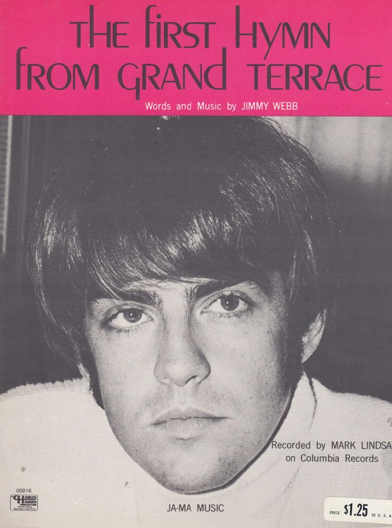 Mark Lindsay The First Hymn From Grand Terrace Piano Sheet Music