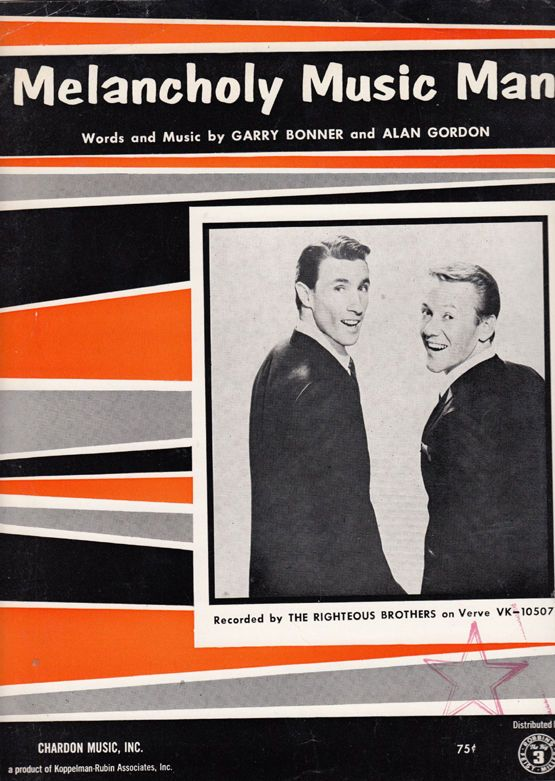 The Righteous Brothers Melancholy Music Man XL Piano Sheet Music