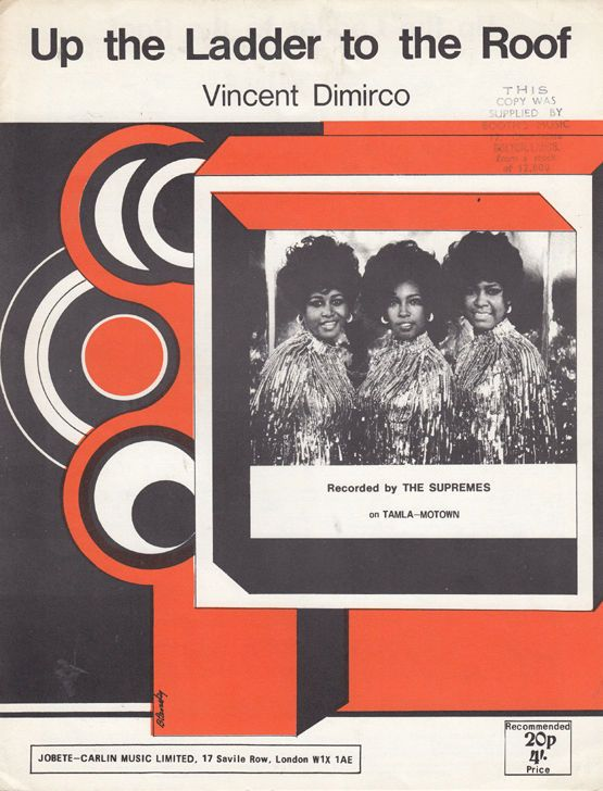 The Supremes Up The Ladder To The Roof XL Piano Sheet Music