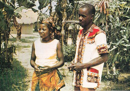 Zaire Newlywed Just Married Newlyweds Africa Photo Fashion Marriage Postcard