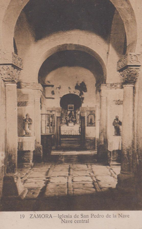 Zamora Nave San Pedro Church Antique Spanish Postcard