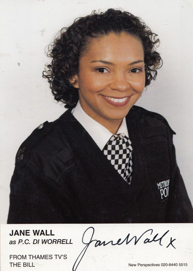 Jane Wall DI Worrell ITV The Bill Hand Signed Cast Card Photo