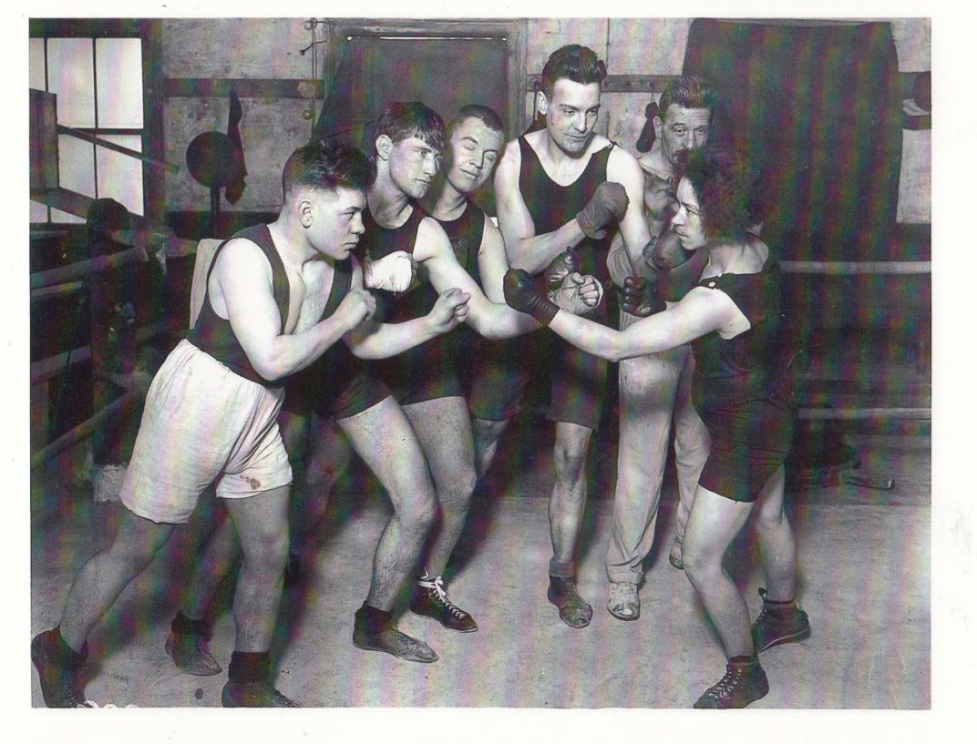 Underground Boxing Class Boxer 1920s Training Award Winning Real Photo  Postcard